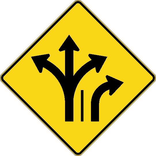 Signal avanc de direction des voies gauche ou tout for Service a table a droite ou a gauche