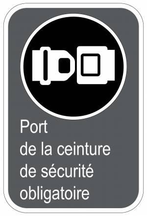 Panneaux archives page 8 sur 87 signel services - Port de la ceinture obligatoire ...