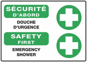 "<a href=""https://www.signel.ca/product/panneaux-norme-osha-securite-dabord-douche-durgence-emergency-shower/"">Panneaux NORME OSHA : Sécurité d'abord : Douche d'urgence-emergency shower</a>"