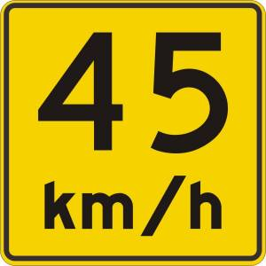 "<a href=""https://www.signel.ca/product/panonceau-vitesse-recommandee-45-kmh/"">Panonceau vitesse recommandée 45 km/h</a>"