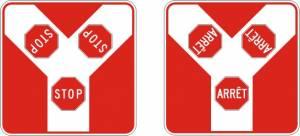"""<a href=""""https://www.signel.ca/en/product/panonceau-arret-a-intersection-en-y/"""">Panonceau arrêt à intersection en """"Y""""</a>"""