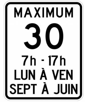 """<a href=""""https://www.signel.ca/product/limite-de-vitesse-30-km-maximum-avec-periodes-dactivites-scolaires/"""">Limite de vitesse 30 km maximum avec périodes d'activités scolaires</a>"""