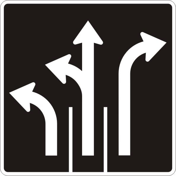 Direction de voies gauche et gauche ou tout droit et for Service a table a droite ou a gauche