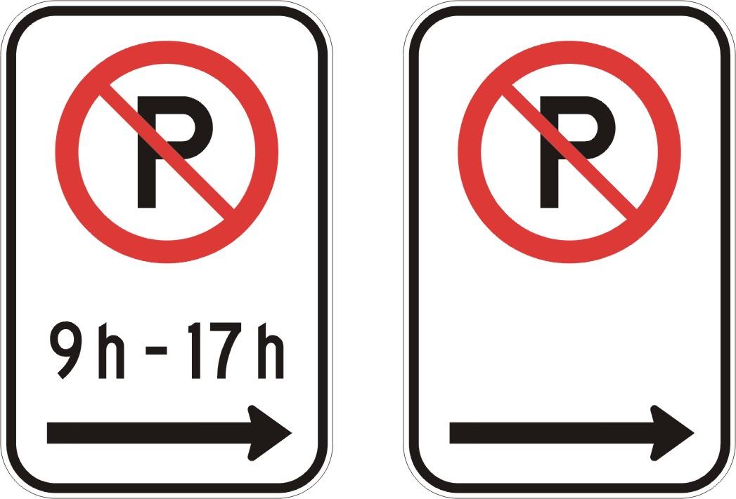 interdiction de stationner avec ou sans heures et fl che droite signel services. Black Bedroom Furniture Sets. Home Design Ideas
