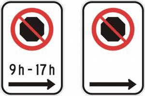 """<a href=""""https://www.signel.ca/product/interdiction-darreter-avec-ou-sans-les-heures-et-fleche-a-droite/"""">Interdiction d'arrêter (avec ou sans les heures) et flèche à droite</a>"""