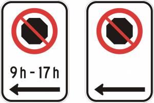 """<a href=""""https://www.signel.ca/product/interdiction-darreter-avec-ou-sans-les-heures-et-fleche-a-gauche/"""">Interdiction d'arrêter (avec ou sans les heures) et flèche à gauche</a>"""