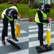 Balise portative pour réduction de vitesse