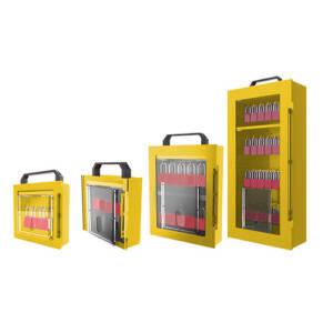 Cabinets de cadenassage de groupe avec fenêtres
